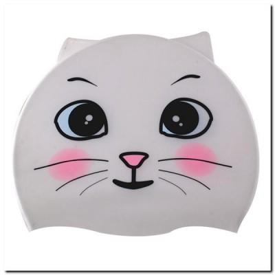 Dětská silikonová čepice Bílá kočka