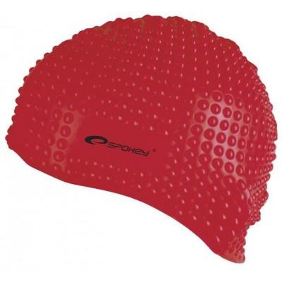 Spokey BELBIN-Plavecká čepice bublinková červená