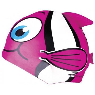 Spokey RYBKA MARLIN Dětská plavecká čepice růžová