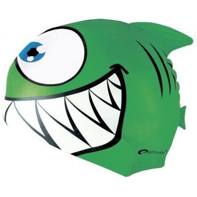 Spokey REKINEK MAKO Plavecká čepice ŽRALOK zelená