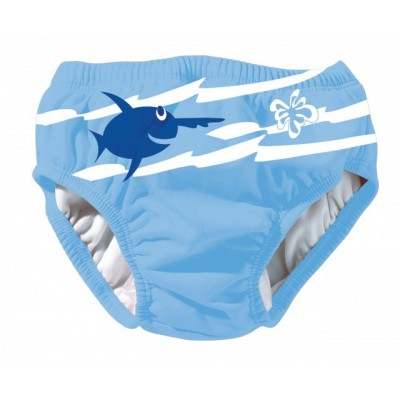 Dětské plavky s rybou modré (XL)