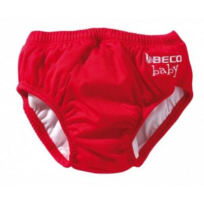 Dětské plavky s gumou červené