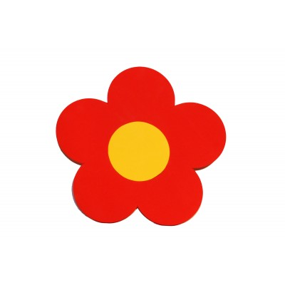Plavecká deska KYTIČKA červená (31,5x30x3,8cm)