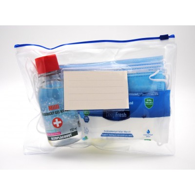 Student Start Anti-Covid Pack - Rouška 10 ks, Gel 150 ml a Antibakteri