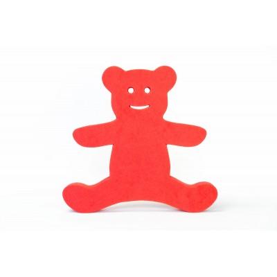 Plavecká deska MEDVÍDEK červená (35x33x3,8cm)