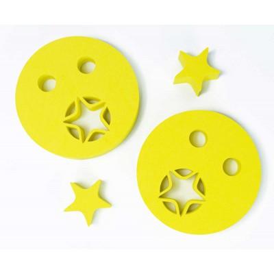 Nadlehčovací kroužky HVĚZDIČKA žluté
