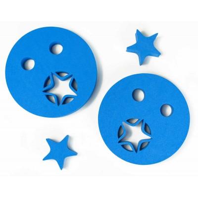 Nadlehčovací kroužky HVĚZDIČKA modré