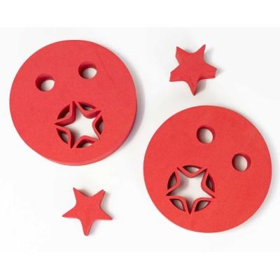 Nadlehčovací kroužky HVĚZDIČKA červené