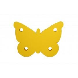 Motýl žlutý - dekorace (3mm)