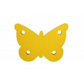 Motýl žlutý - dekorace (1cm)