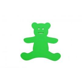 Plavecká deska MEDVÍDEK zelená (35x33x3,8cm)