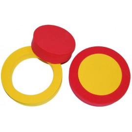 Pěnový kroužek 2ks (červená, žlutá)