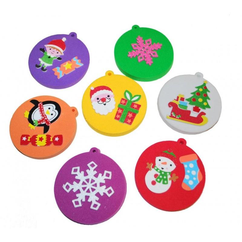 Vánoční ozdoba z pěnové hmoty (8ks)