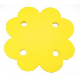 Plavecký ponton ČTYŘLÍSTEK žlutý  (71x71x3,8cm)