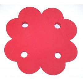 Plavecký ponton ČTYŘLÍSTEK červený  (71x71x3,8cm)