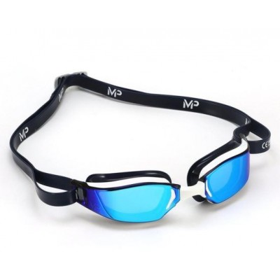 Michael Phelps plavecké brýle XCEED WHITE/BLUE titanově zrcadlový zorník
